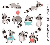 collection of cute funny... | Shutterstock .eps vector #1318498748