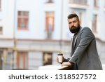 relax and recharge. man bearded ... | Shutterstock . vector #1318527572