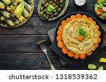 arabic cuisine  middle eastern...   Shutterstock . vector #1318539362