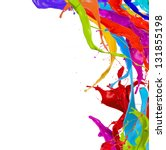 colored paint splashes isolated ... | Shutterstock . vector #131855198