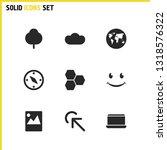 mixed icons set with honey ...