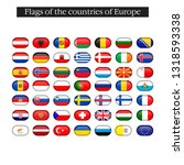 set of world flags round badges.... | Shutterstock .eps vector #1318593338
