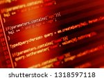 program code on a monitor  | Shutterstock . vector #1318597118