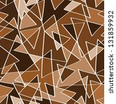 abstract brown triangles...   Shutterstock .eps vector #131859932