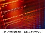program code on a monitor  | Shutterstock . vector #1318599998