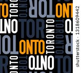 toronto  canada seamless... | Shutterstock .eps vector #1318609442