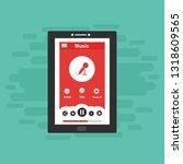 music modern app user interface ... | Shutterstock .eps vector #1318609565