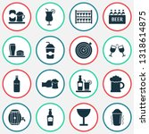 alcohol icons set with elite... | Shutterstock .eps vector #1318614875