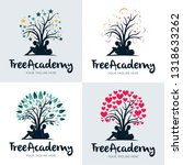 collection of tree academy kids ... | Shutterstock .eps vector #1318633262