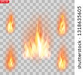realistic burning fire flames...   Shutterstock .eps vector #1318635605