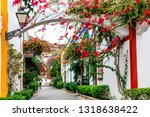 charming floral decorated... | Shutterstock . vector #1318638422