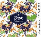 indonesian batik  batik... | Shutterstock .eps vector #1318641725