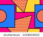 geometric seamless pattern in... | Shutterstock .eps vector #1318654022