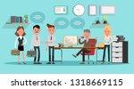 business people working in... | Shutterstock .eps vector #1318669115
