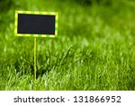 small plate with space for text ... | Shutterstock . vector #131866952