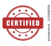 certified stamp | Shutterstock .eps vector #131868506