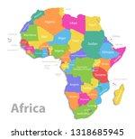 africa map  new political... | Shutterstock .eps vector #1318685945