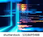 programming code abstract... | Shutterstock . vector #1318695488