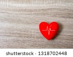 red heart with heart rate graph ... | Shutterstock . vector #1318702448