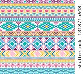 aztec american indian pattern... | Shutterstock .eps vector #1318715648