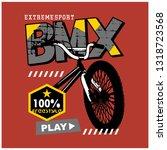 bmx bike typography design... | Shutterstock .eps vector #1318723568
