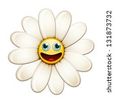 Cartoon Smiling Flower  Happy...