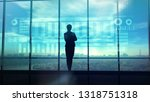 silhouette of business woman... | Shutterstock . vector #1318751318