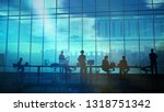 a team of traders in front of... | Shutterstock . vector #1318751342