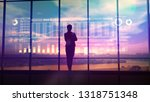 silhouette of business woman... | Shutterstock . vector #1318751348
