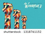 happy womens day illustration.... | Shutterstock .eps vector #1318761152