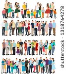 isolated  flat style  people... | Shutterstock .eps vector #1318764278