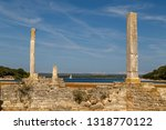 ruins of roman villa on brijuni ... | Shutterstock . vector #1318770122