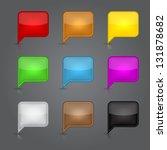 set glossy empty speech bubble... | Shutterstock .eps vector #131878682