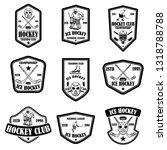 set of hockey club emblems.... | Shutterstock .eps vector #1318788788