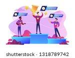 tiny people winners sportsmen...   Shutterstock .eps vector #1318789742