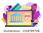tiny people with laptop and...   Shutterstock .eps vector #1318789748