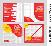 healthcare post social media... | Shutterstock .eps vector #1318792808