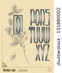 set of vector letters of the... | Shutterstock .eps vector #131880002