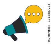 bullhorn with chat bubble... | Shutterstock .eps vector #1318807235