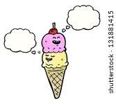 ice cream cartoon character | Shutterstock . vector #131881415