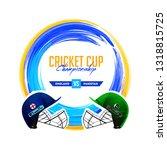 cricket match between england... | Shutterstock .eps vector #1318815725