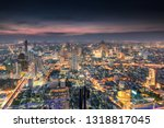 cityscape of colorful crowded... | Shutterstock . vector #1318817045
