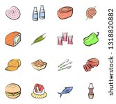 food images. background for... | Shutterstock .eps vector #1318820882