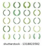 set of green silhouette laurel... | Shutterstock .eps vector #1318823582