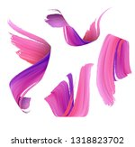 abstract acrylic brush strokes... | Shutterstock .eps vector #1318823702