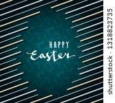 happy easter calligraphic logo... | Shutterstock .eps vector #1318823735