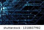 3d render digital background... | Shutterstock . vector #1318837982