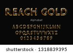 reach gold alphabet and font.... | Shutterstock .eps vector #1318839395