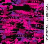 girly camo. seamless abstract... | Shutterstock .eps vector #1318843658