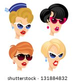 women heads | Shutterstock .eps vector #131884832